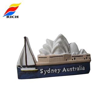 Customized Sydney Opera House Cheap Creative Resin Crafts Magnet Sticker