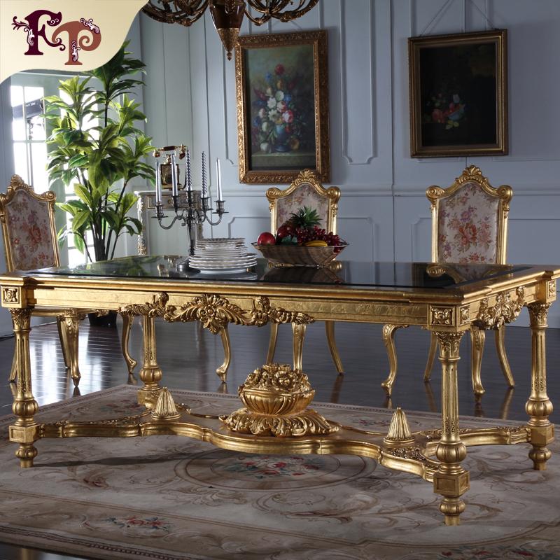 Cl sico muebles europeos antigua hoja de oro de madera - Muebles italianos clasicos ...