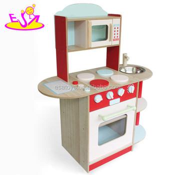 2016 Desain Baru Anak Anak Kayu Kitchen Set Fashion Atas Anak Anak