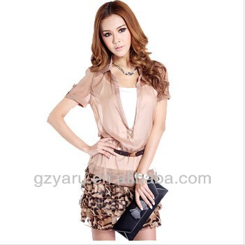 Chiffon Printed Dress from Thailand Wholesale Clothes