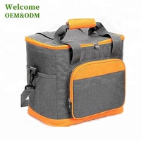 KID big capacity 24 can custom yellow grey picnic lunch insulated thermal lunch cooler bag manufacturer