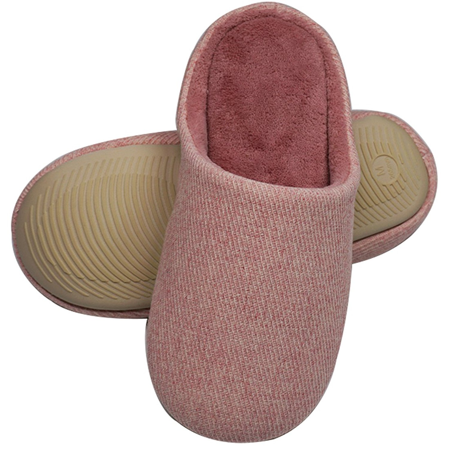 1cc9cda17dc Get Quotations · ZORALA Women   Men Slippers - Cashmere   Cotton Blend  Household Shoes - Solid   Striped