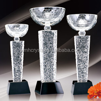 professional customized crystal cup trophy/crystal trophy for Grand ceremony/custom crystal trophy and awards MH-J5308