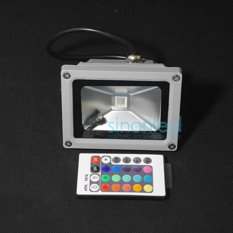 Wholesale 10W RGB LED Outdoor Flood Light Multicolor