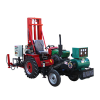 tractor mounted water well drilling soil drilling rig