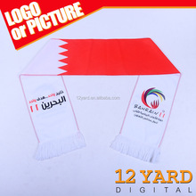 China promotion digital sublimation printed Bahrain flag knit infinity scarf 100% cotton pashmina shawl scarf