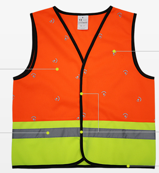 Outdoor Sports Running Cycling Protective Children Hi Vis Child Kids Reflective Safety Vest