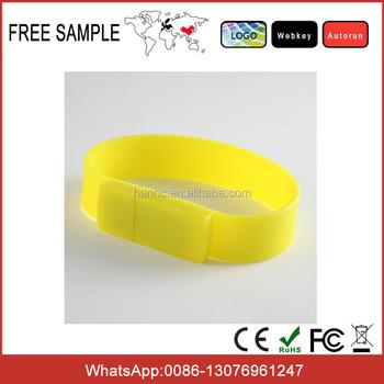 Free Sample 2gb 4gb 8gb 16gb Custom Bracelet Usb Flash Drive