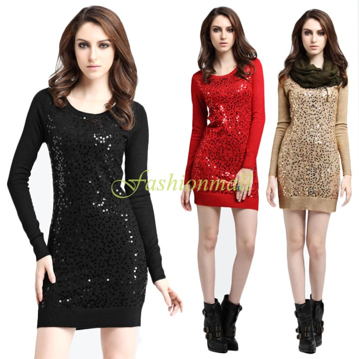 Women Pullovers Dress 2015 Autumn Winter Hot Fashion Casual Dress Plus Size Slim Knitted Sweater Dresses 12