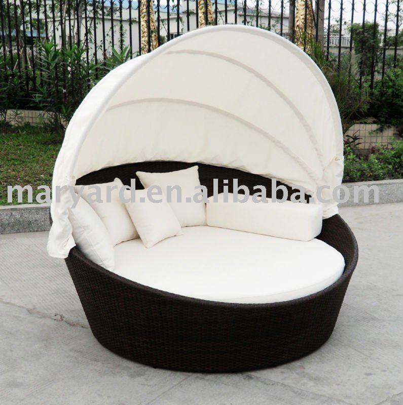 Wasserdichte Outdoor Rattan Lounge Daybed Mit überdachung Buy