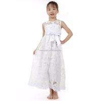 boutique white big lace flower one-piece beautiful girls wedding party wear dresses wholesale