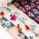 Free sample Chinese custom plain digital flower print on 100% rayon viscose fabric for clothing