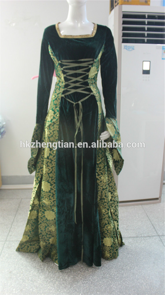 Adult carnival Renaissance Medieval Game Costume lady Cosplay party Dress