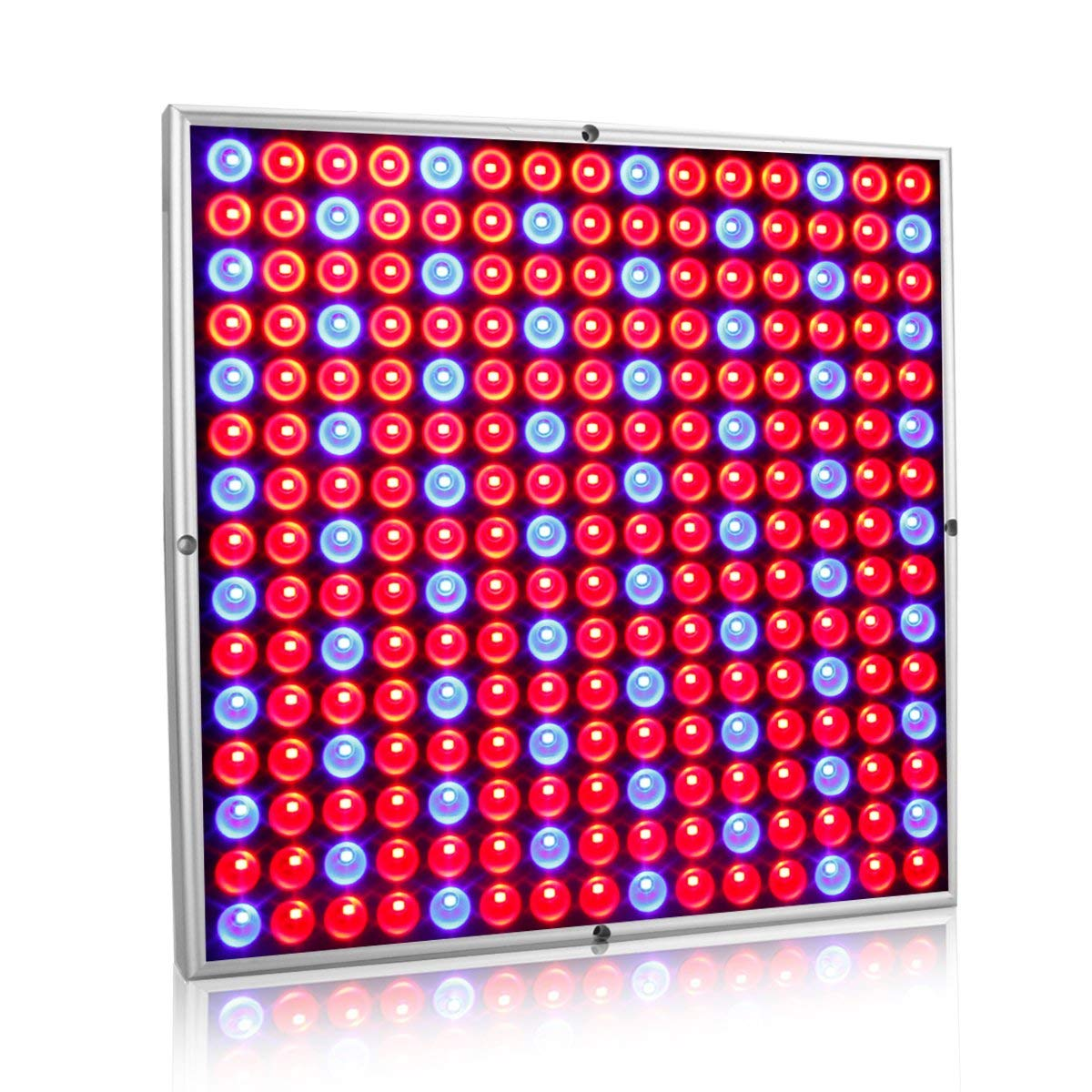 Exmate 45W LED Grow Light for Indoor Plants Growing Lamp 225 LEDs Red Blue Plant Lights Bulb Panel for Greenhouse Tent Indoor Succulent Plants Seedlings Flowering Veg Bloom Hydroponic Garden Sliver