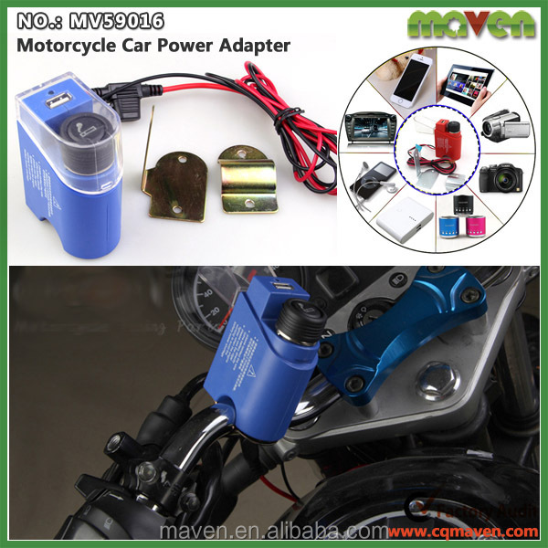 Custom DC12V Scooter Motorbike Cigarette Lighter Power Plug Socket With USB Charger MV59016