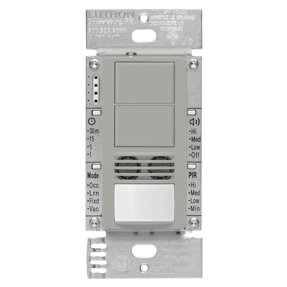 Buy Lutron Maestro Dual Tech Dual Circuit Occupancy Sensor Switch ...