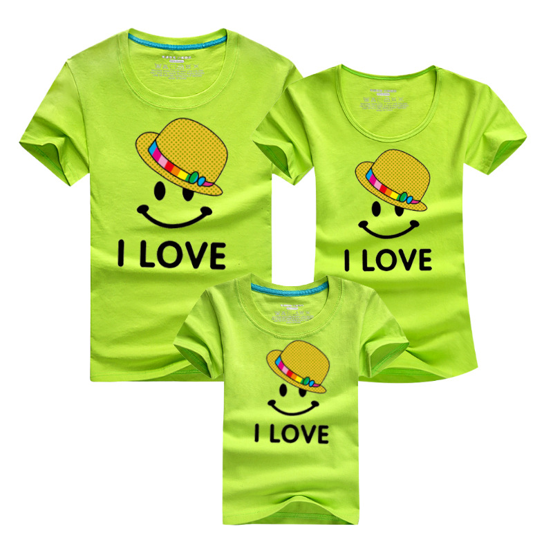 9 Style Family Matching Outfits Summer Family Clothing Dad Mom and daughter dress Family Look Clothe