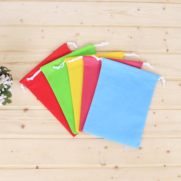 Factory Directly Selling Multicolored Promotional Non Woven String Backpack Drawstring Bag