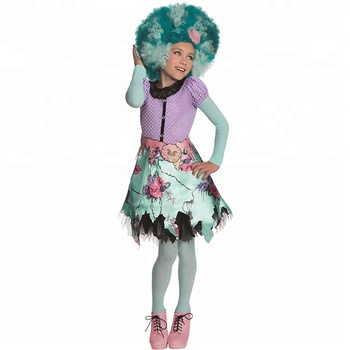 Wholesale Halloween Carnival Party Monster High Honey Swamp Fancy Dress Frights Camera Action Child Costume
