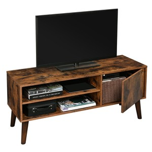 VASAGLE latest design antique home living room furniture vintage industrial wooden cabinet Rustic Tv Stand