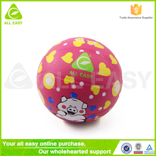 Alleasy Wholesale Cheap Rubber Kids Mini Basketball Ball Size 2 152mm 6 inch diameter