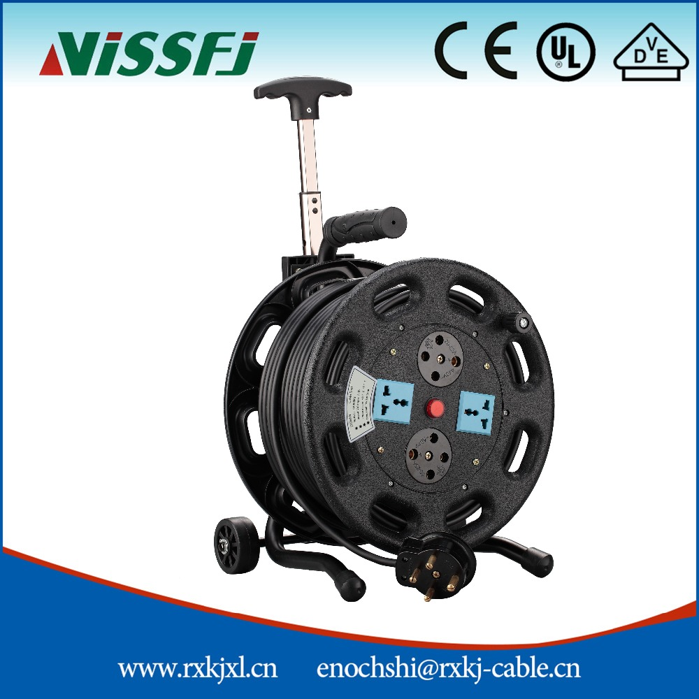 Electric cable reel 100m or without cable CE approved