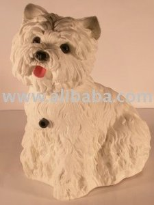 Dog figure West Highland Terrier with motion detector