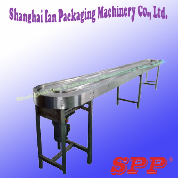 Slat chain bottle conveyor