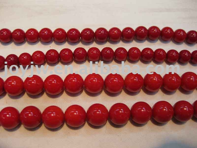 Round natural Red Coral