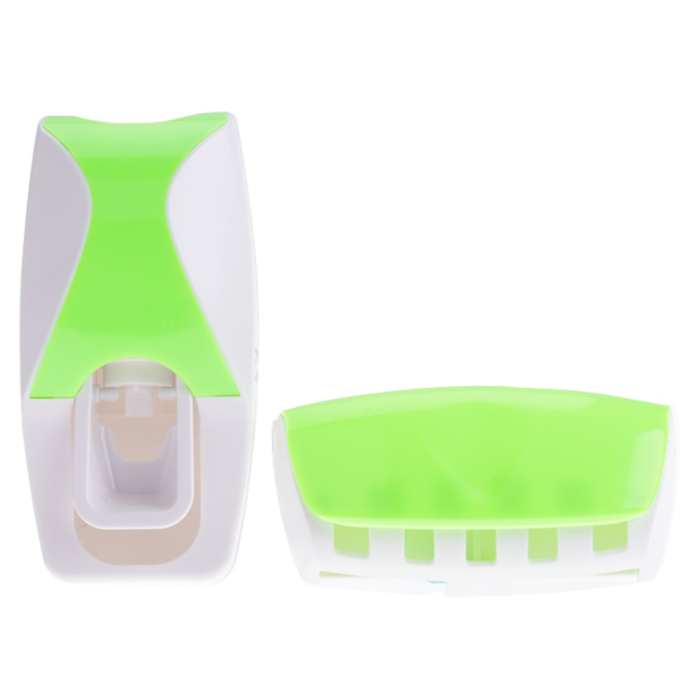 New Fashion Practical Automatic Toothpaste Dispenser + Toothbrush Holder