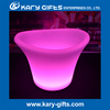 Rechargeable plastic ice bucket rgb multi color led ice cooler