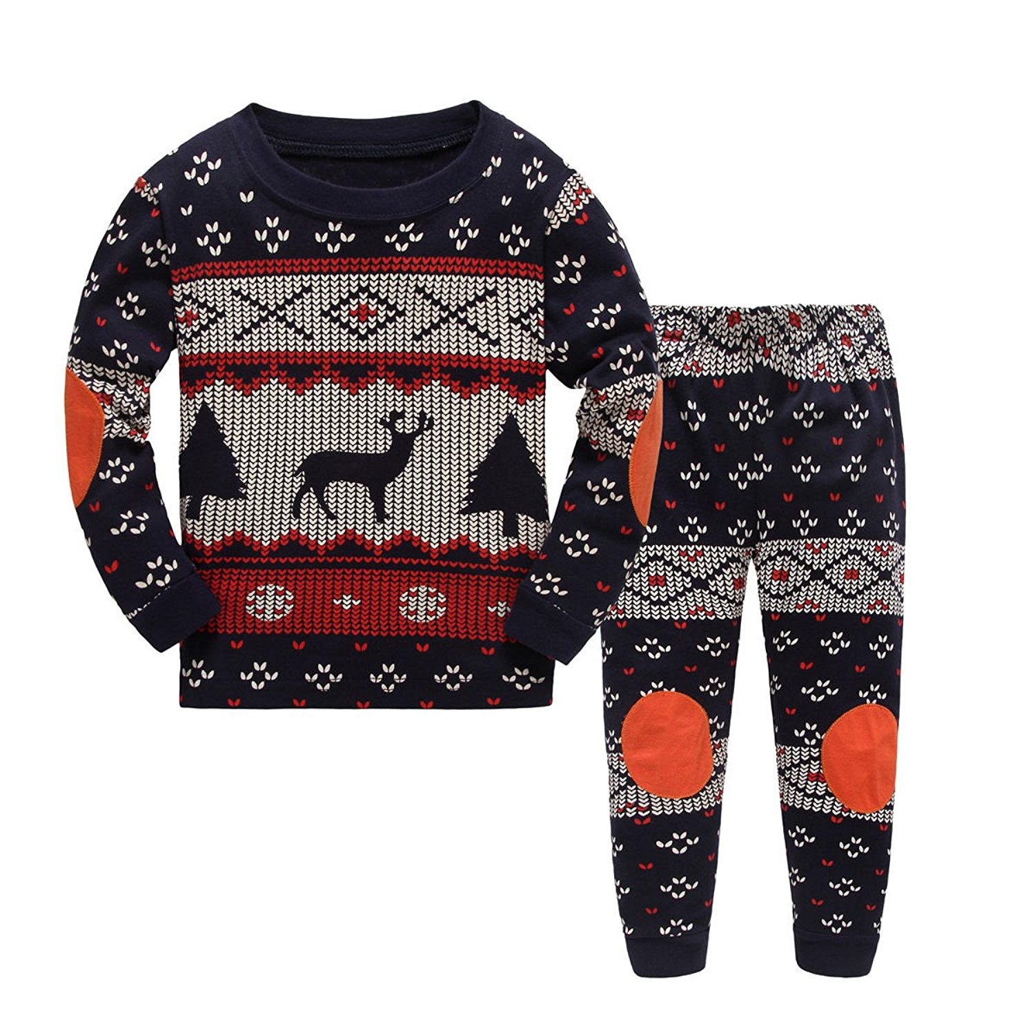 Canvos Baby Boys Christmas Deer Pajama Sets Little Kids Sleepwears Clothes