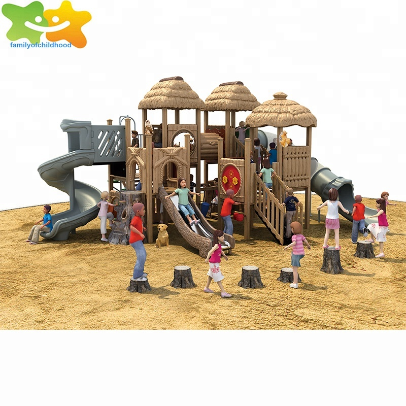 Eco-friendly kids outdoor playground wooden play area for sale
