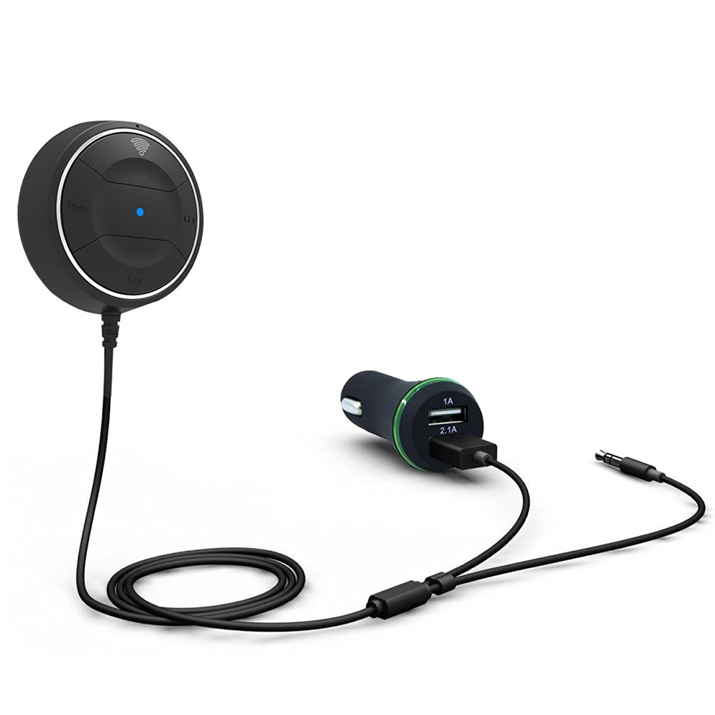 LEORX Portable Wireless Bluetooth 4.0 Hands-Free Car Kit Wireless Talking Car Speakphones