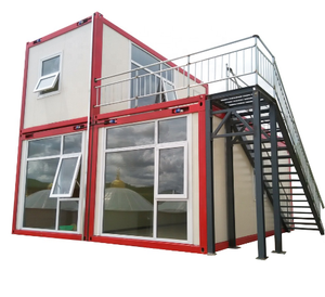 Waterproof Container 2 Bedroom Containers Portable Prefab 40 ft Flat Pack Steel Containers home