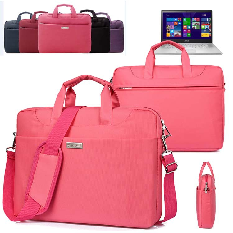 Waterproof Ladies Laptop Shoulder Bag Travel Carrying Case Briefcase Messenger for 15.6'' inch Asus ZenBook NX500/ Pro UX501