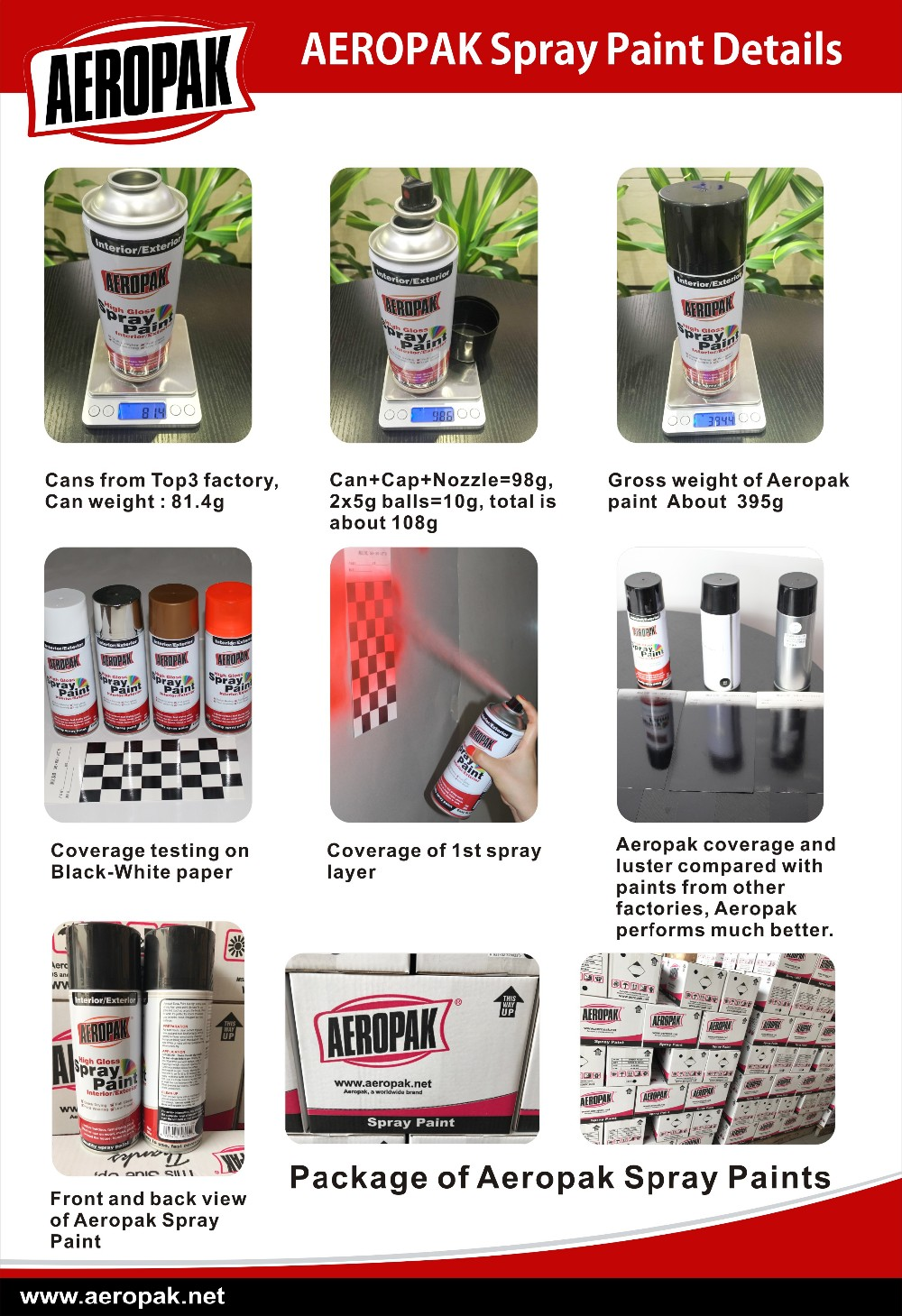 AEROPAK High Quality Spray Paint MSDS Aerosol Paint With Many Colors
