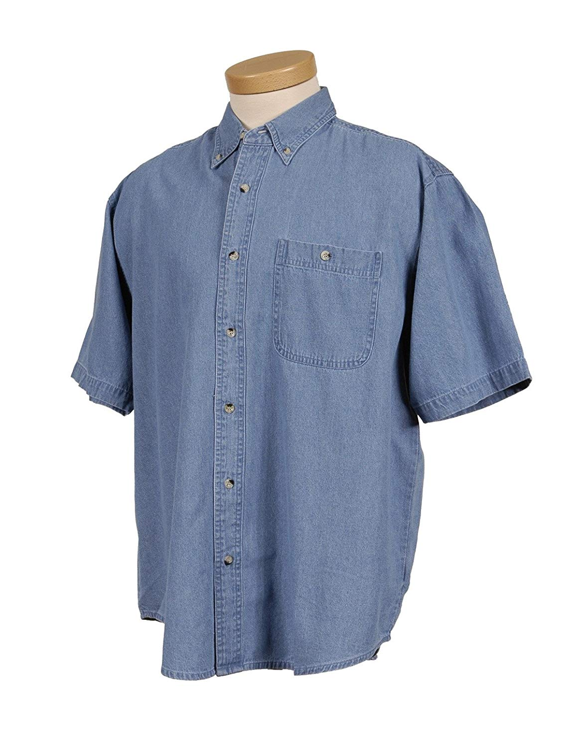 0847227087f Get Quotations · Tri-Mountain Men s 100% Cotton Scout Stonewashed Denim  Shirt (3 Colors