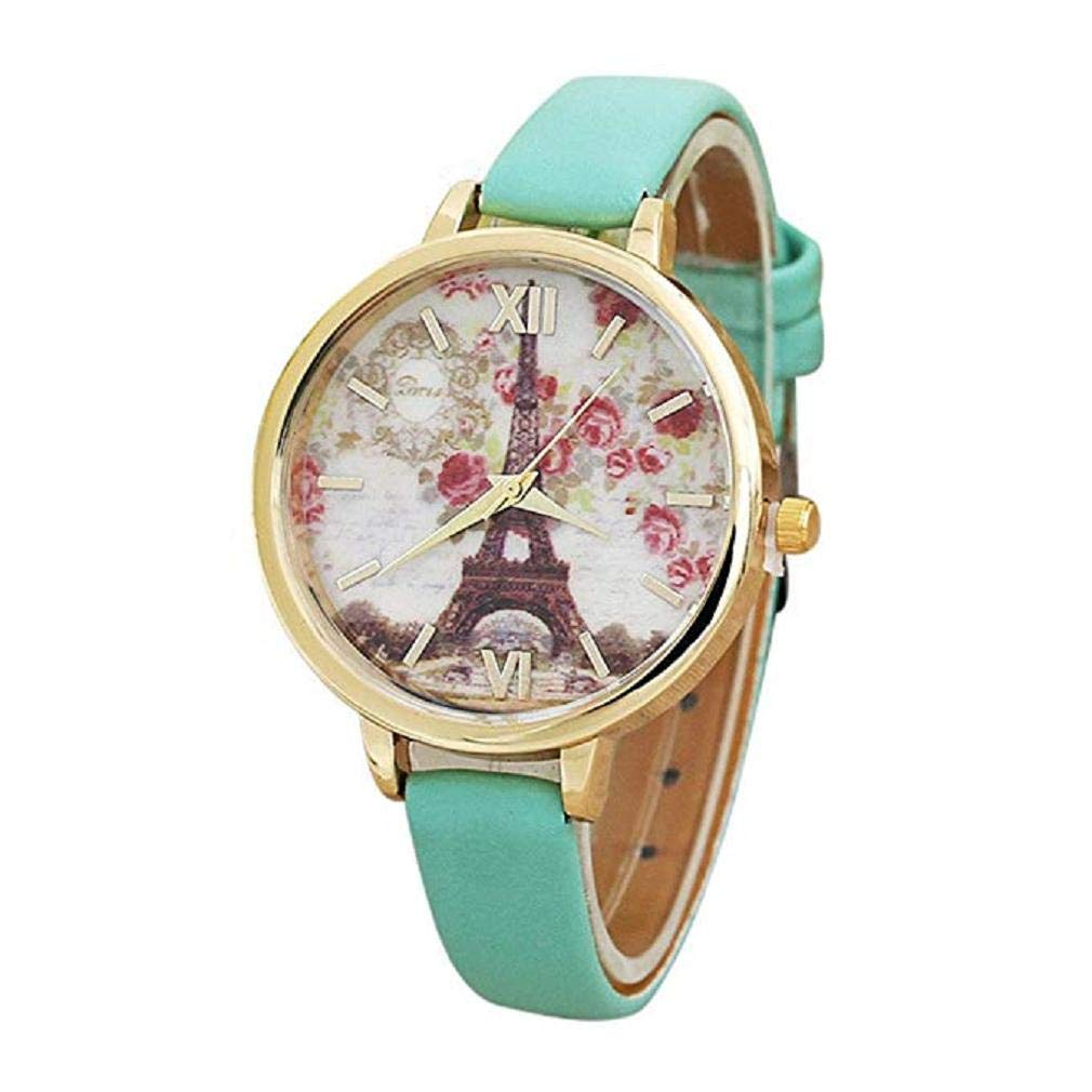 Big Promotion! Windoson Women Quartz Watches Clearance Analog Ladies Watches Girl Watches Leather Female Watches (Green)