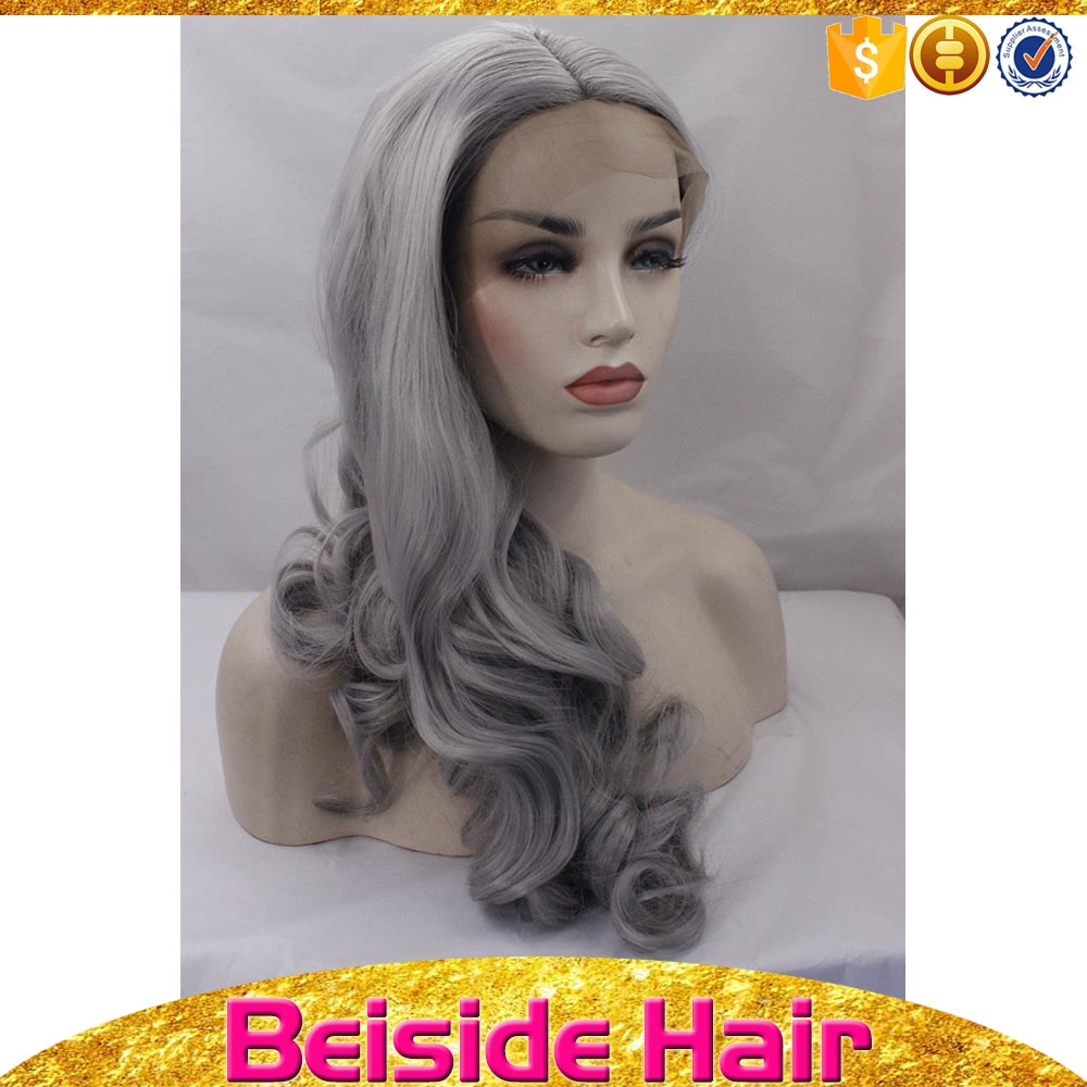 Gold supplier 2 years big curly wave jessie hair color ash grossiste lace wig vendors