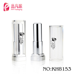 custom-color airtight empty square packaging lipstick container tube with free sample