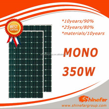 Factory direct mono 350W solar panel for price pakistan