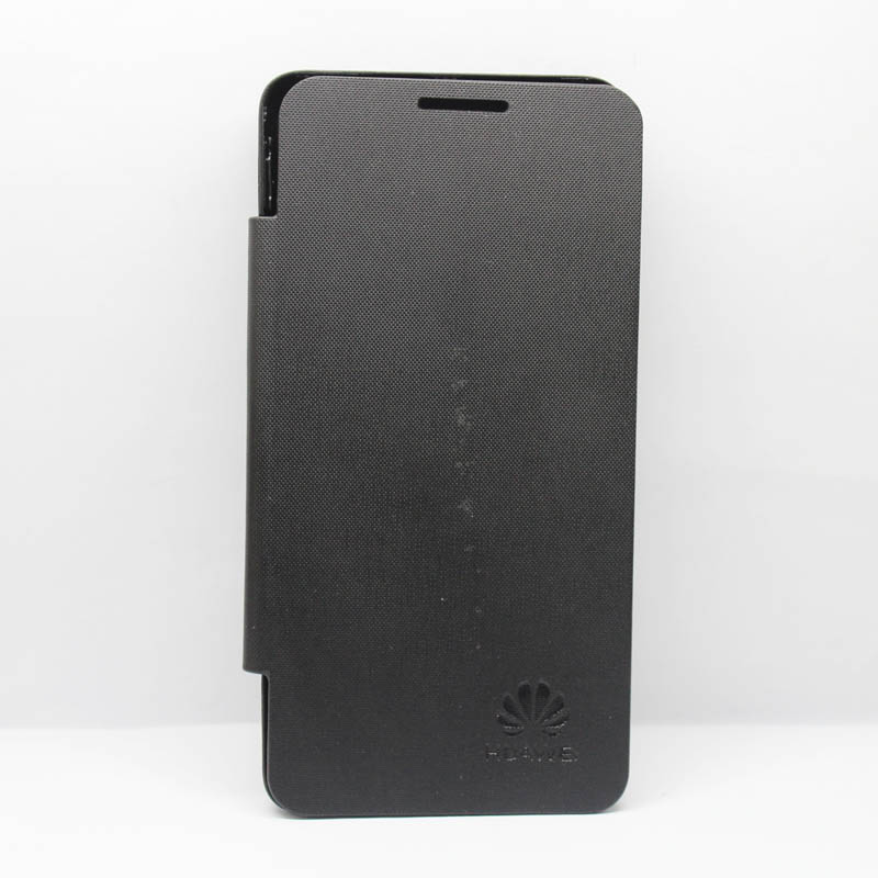 Smart flip battery leather cover for huawei ascend g510