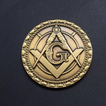 Kunshan Custom Masonic Challenge Antique Gold Coin Old Metal Bitcoin Coin  3d Souvenir Coin Military Challenge Coins - Buy Kunshan Custom Masonic