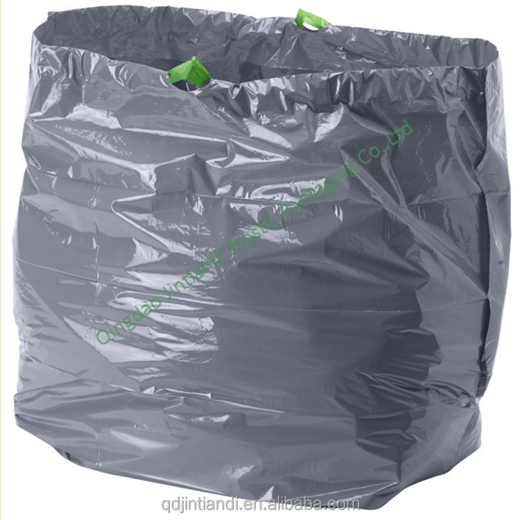 Factory price oxo biodegradable garbage/trash bags with zip tie/drawstring garbage bag