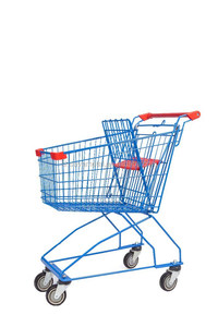 stainless steel portable hand push shopping trolley cart/wheels for supermarket trolley/metal grocery cart