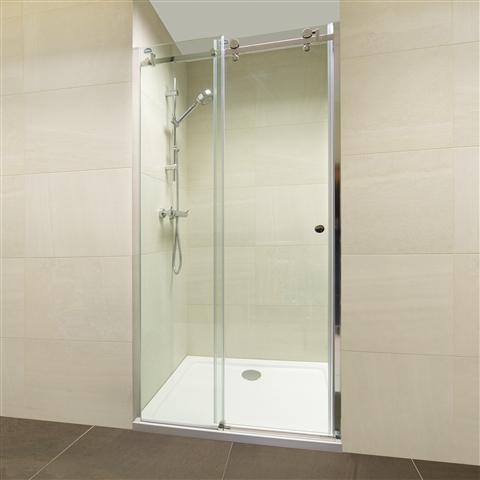 Jinxin 1200mm Wide Semi Frameless 8mm Thick Sliding Shower Door