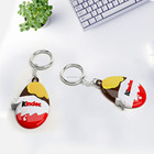FAMA licensed factory OEM Promotional items Soft PVC rubber silicone custom charm keychain
