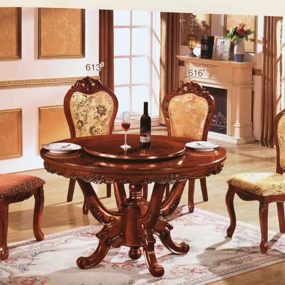 European round rotating dining table dining room tables home furniture