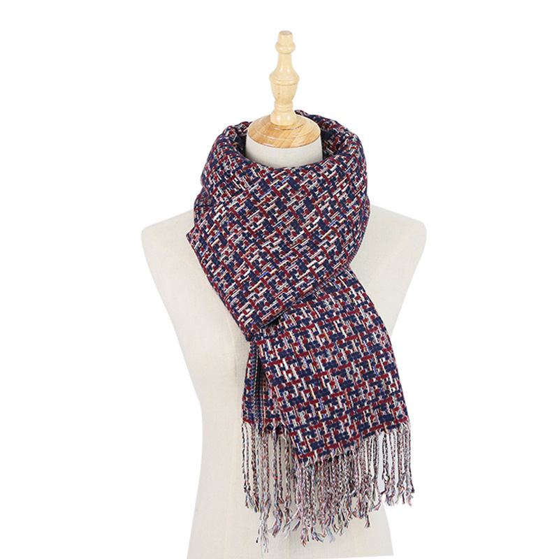Cosum high quality best price winter 2018 custom knitted knitting <strong>scarf</strong> women
